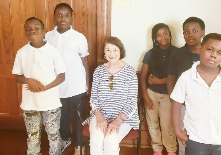 THA youths with Ms Marianna Keesee