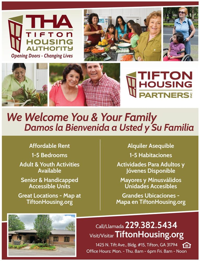 Tifton Housing Authority - We welcome you and your family